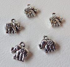 AC3100ST - Elephant : 10 pcs x Silvertone Charms