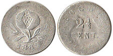 1880 Colombia 2-1/2 Centavos Silver Coin KM#169 Mintage 123K