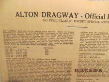 Original Two-Page List of Official Drag Rules for Alton Dragway 1959 Karamesines