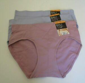 3 Bali One Smooth U hipster size 7 Style 2H63 Blue and Pink