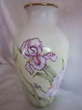 """Hand Painted Iris Vase 11.5"""""""