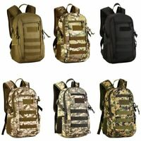 12L Molle Outdoor Military Tactical Backpack Camouflage Hiking Trekking Rucksack