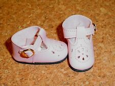 Doll Shoes LIGHT PINK 44mm T-Straps for Ellowyne, Patience & NuMood