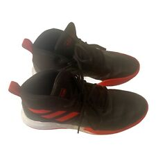 Adidas Mens Size 9.5 Red Black Ownthegame Leather Lace Up Basketball Shoes
