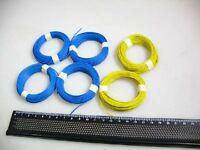 (0,125€/m) 60 m Litze blau/gelb z.B.für Märklin H0 M-Weichen #Q5