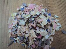 Muestra de confeti 100% Biodegradable natural Delphinium pétalos gris, rosa y crema