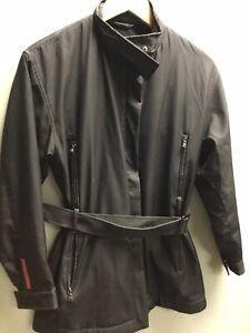 Ladies Black Winter Prada Coat UK XL