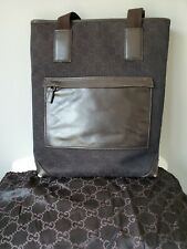 GUCCI tote GG Pattern Jacquard Brown Tall Tote w/ Dust Bag *Gently Used*