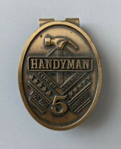 Handyman Club of America Bronze Tone 5th Anniversary Money Clip