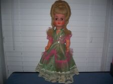 """Vintage Hard Plastic Doll w/ Crier & Mohair Wig 25"""" Italy"""