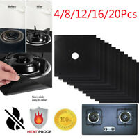 4-20PCS Reusable Gas Range Stove Top Burner Protector Liner Cover Nonstick US