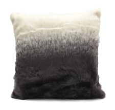 "Ombre Faux Fur Cushion 17"" x 17"""