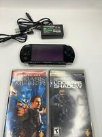 Sony PSP 3001 Console  With Charger, Battery  and 2 GAMES W Manual Tested