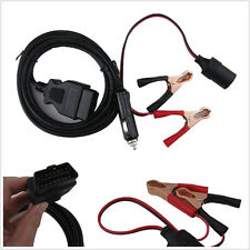 OBD2 Emergency Power Connector Memory Saver+ Extended Cable Battery Clamp Clip