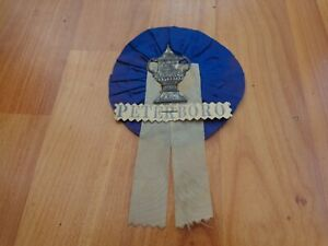 VINTAGE 1960'S PETERBOROUGH UNITED FOOTBALL SUPPORTERS ROSETTE PENNANT