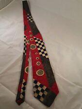 Don Loper Silk Tie 100% Italian Silk 80's style pattern