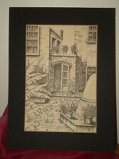 LITTLE THEATRE FRENCH QUARTER B Bertrand 1970 Print Signed New Orleans Le Petite