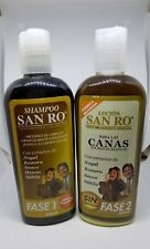SAN RO Gray Hair Shampoo & Hair Lotion Coloring Treatment Herbal Extracts 240ml