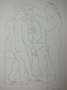 Pablo Picasso lovely Vollard Suite lithograph 1956 hand signed