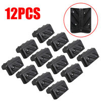 12 Pieces Plastic Corner Protector for Speaker Guitar Cabinet Amplifier 80*48mm