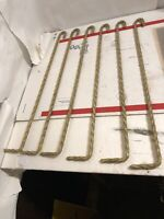 6 Matching  Vintage Swing Out Curtain Twisted Rods Rod