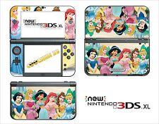 HAUT STICKER AUFKLEBER - NINTENDO NEU 3DS XL - REF 108 DISNEY PRINZESSIN