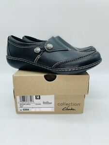 Clarks Collection Women's Ashland Lane Loafer Flats Black Leather  - Pick Size