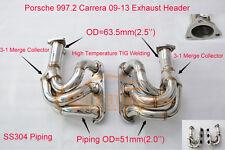 High performance Porsche 997.2 carrera 09-13 exhaust header