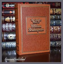 Complete Works of William Shakespeare New Deluxe Ribbon Leather Bound 2 Day Ship