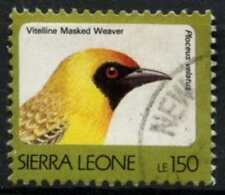 Sierra Leone 1992-9 SG#1903A 150L Birds Definitive No Imprint Date Used #D67020