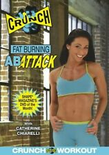 CRUNCH WORKOUT FAT BURNING AB ATTACK DVD NEW SEALED ABDOMINAL FITNESS EXERCISE