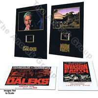 2 Sets of Doctor Who Invasion Earth Peter Cushing Film Cells + Campaign Booklets