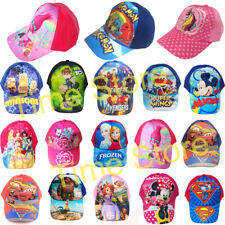Baseball Caps Boys Girls Cartoons Frozen Pokemon Adjustable Kids Summer Hats