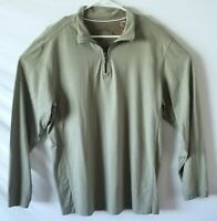 Tommy Bahama Half Zip Pullover Sweater Long Sleeve Shirt Green Mens Size Large