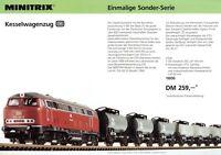 Minitrix Prospekt Kesselwagenzug Bierwagenzug 1980er J. Modelleisenbahn brochure