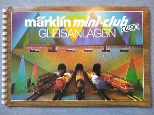 Marklin Mini-Club Gleisanlagen 0290 Track Layout Guide w/ 0292 Layout Guide ~ TS