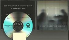 ELLIOT MOSS Big Bad wolf 2015 RARE TST PRESS PROMO DJ CD Single USA MINT