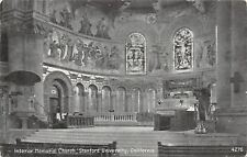Stanford University California~Interior Memorial Church~1912 B&W Postcard