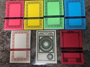 5 GOLF YARDAGE BOOKS/1 RAINPROOF SCORECARD NOTEBOOK/1 PERFORMANCE JOURNAL
