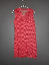 Faded Glory sleeveless Shift Dress 100% Rayon, V-neck Button EXCELLENT CONDITION