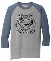 Mens Tiger Graphic 3/4 Triblend Animal