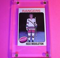 1975-76 Topps Hockey #37 Rick Middleton Rangers NrMt NM Sharp!