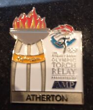 ATHERTON Sydney 2000 Olympic Torch Relay AMP sponsor pin