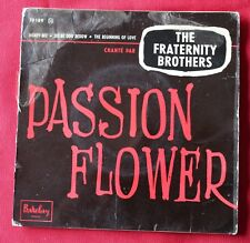 The Fraternity Brothers, passion flower, EP - 45 tours
