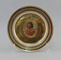 """99840618 Porzellan Lichte kobalt Prunk-Wandteller gold """"Der Mulatte"""""""