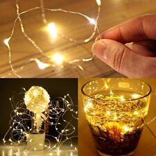 10er LEDs Drahtlichterkette Micro Lichterkette   Warm weiß Neu Xmas Party