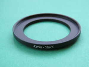 43mm-55mm Stepping Step Up Male-Female Filter Ring Adapter 43mm-55mm