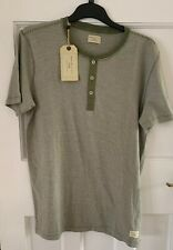 Selected Homme Short Sleeve Henley Tee Shirt Large (BNWT)