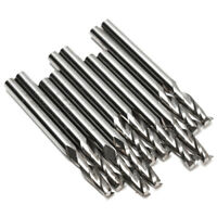 "10x 1/8"" 3.175mm Carbide CNC Double Two Flute Spiral Bits End Mill Router 2 C5R2"