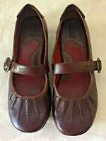 BORN Women's Brown Leather Mary Jane Shoes Size 8/39